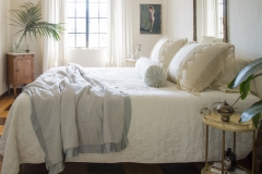 Bella Notte 2020 Spring Lifestyle, Austin Quilted in Winter White + Frida