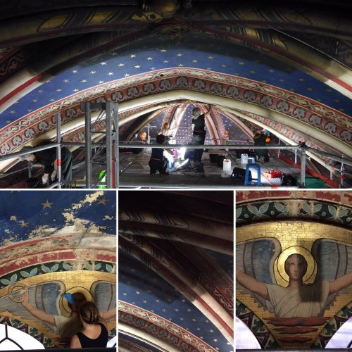 Saint Germain des Prés: Conservators at Work