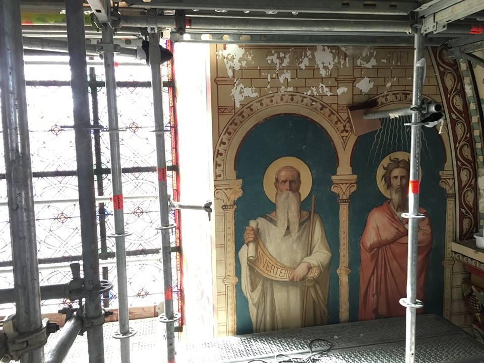 Saint Germain des Prés: Damaged Frescos