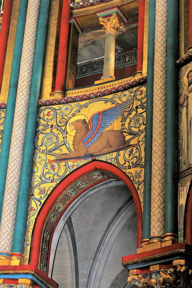 Saint Germain des Prés: Winged Lion Restored