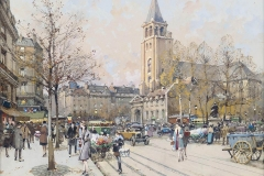 Saint Germain des Prés: Winter Scene Painting