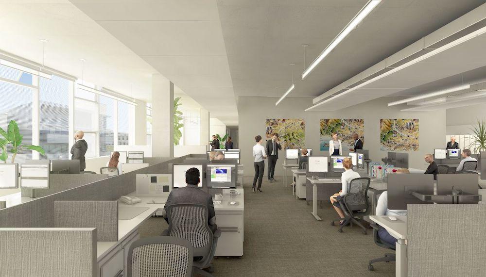 Interior Open Work Santa Monica City Services Building, Frederick Fisher and PartnersArea,