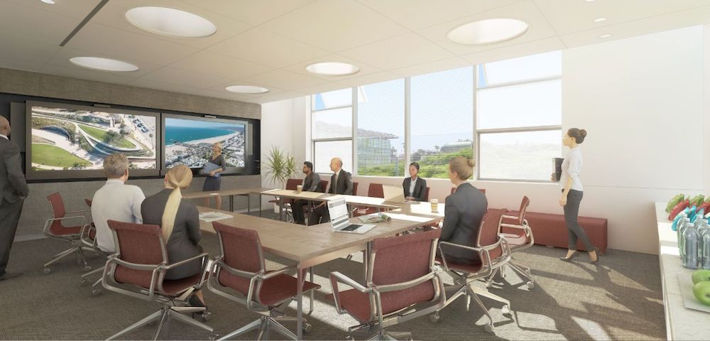 Interior Meeting Room, Santa Monica City Services Building, Frederick Fisher and Partners