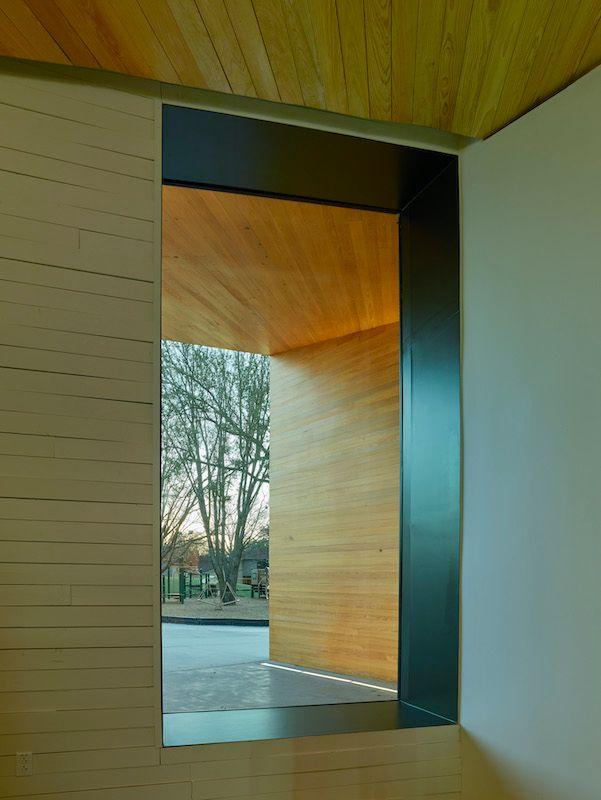 Cypress Paneling,  Lamplighter School, Blackwell Architects