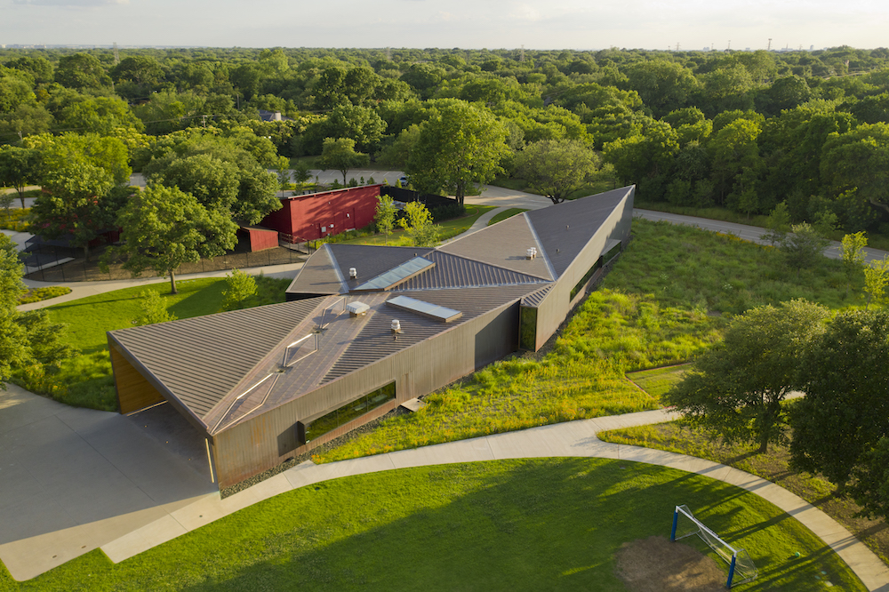 Drone View, Lamplighter School, Blackwell Architects