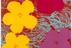 Flowers, 1967, © 2017 The Andy Warhol Foundation for the Visual Arts, Inc. / Artists Rights Society (ARS), New York. Andy Warhol (American, 1928-1987) Flowers, c.1967 color silkscreen on paper 36 1/16 x 36 in. (91.6 x 91.5 cm) Williams College Museum of Art, Williamstown, MA: Gift of Tennyson and Fern Schad, Class of 1952 (84.17.1)