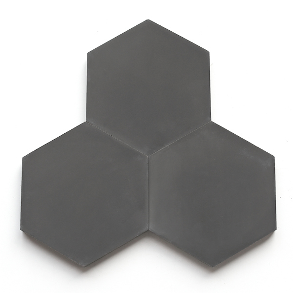 Shapes from clé: Hex, Charcoal
