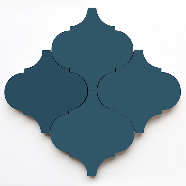 Shapes from clé: Arabesque, Federal Blue
