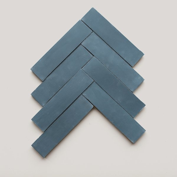 Shapes from clé: Solid Rectangle, Herringbone, Federal Blue