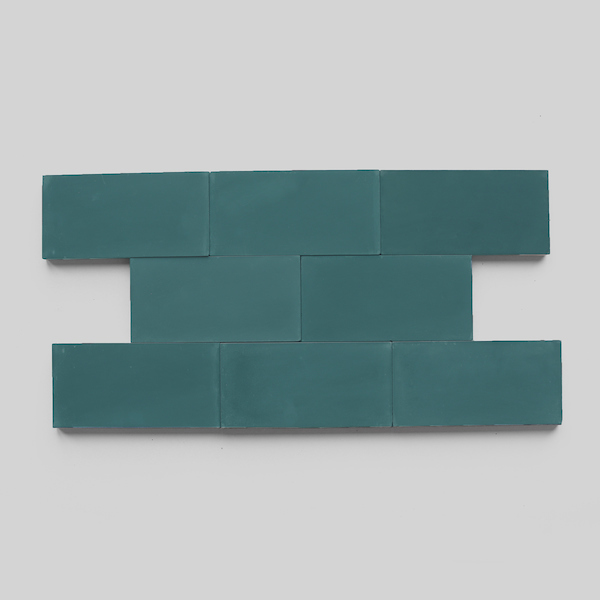Shapes from clé: Solid Rectangle. Subway Powder, Teal