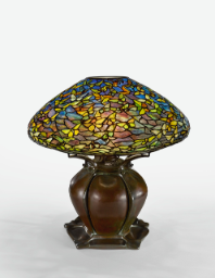 "Lot 16: Tiffany Studios An Important And Rare ""Butterfly"" Table Lamp shade designed by Clara Driscoll,"