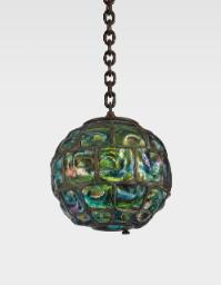 "Lot 19: Tiffany Studios ""Turtle-Back"" Lantern"