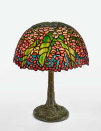 "Lot 25: Tiffany Studios ""Begonia"" Table Lamp"