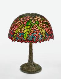 "Lot 25: Tiffany Studios ""Begonia"" Table Lamp"