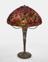 "Lot 26: Tiffany Studios ""Peacock"" Table Lamp"