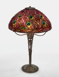 """Lot 26: Tiffany Studios """"Peacock"""" Table Lamp"""