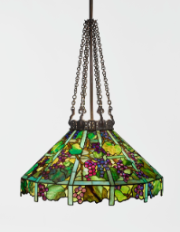 "Lot 32 Tiffany Studios ""Grape Trellis"" Chandelier"