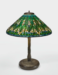 "Lot 38: Tiffany Studios ""Arrowhead"" Table Lamp"