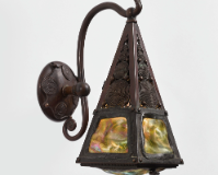 "Lot 21: Tiffany Studios ""Turtle-Back"" Sconce"
