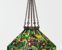 "Lot 32 Tiffany Studios ""Grape Trellis"" Chandelier"