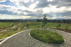 Civitas Stapleton Park pic: With sweeping views of the Front Range, the Vista Garden in Sandhills Prairie Park is the highest point in all of the Willow Park Neighborhood