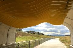 "David Franklin's""Drift Inversion"" creates a distinctexperiencefor regional trail users traversing through Sandhills Prairie Park"