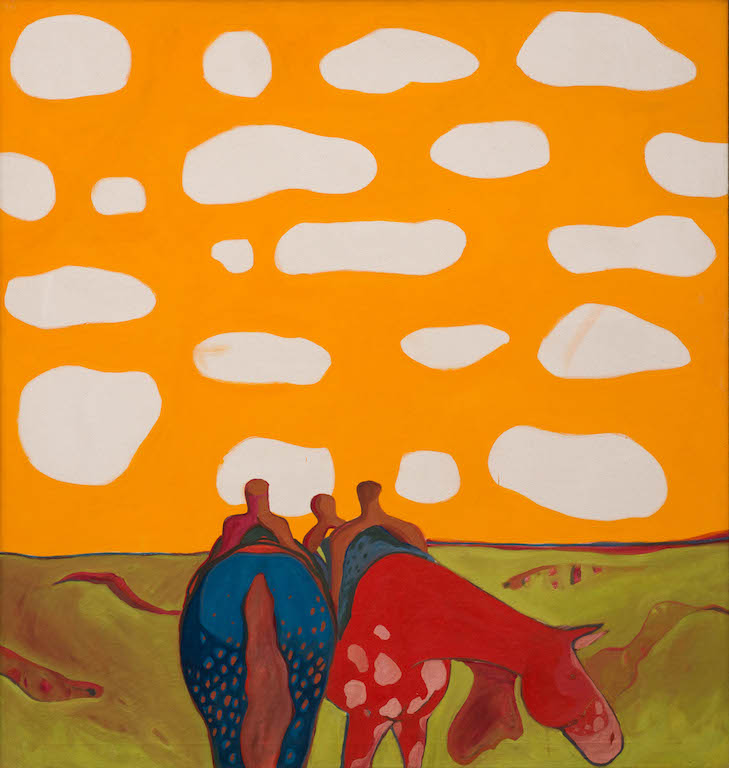 T. C. Cannon (1946–1978, Caddo/Kiowa), All the Tired Horses in the Sun, 1971–72. Oil on canvas. TiaCollection. © 2017 Estate of T. C. Cannon.