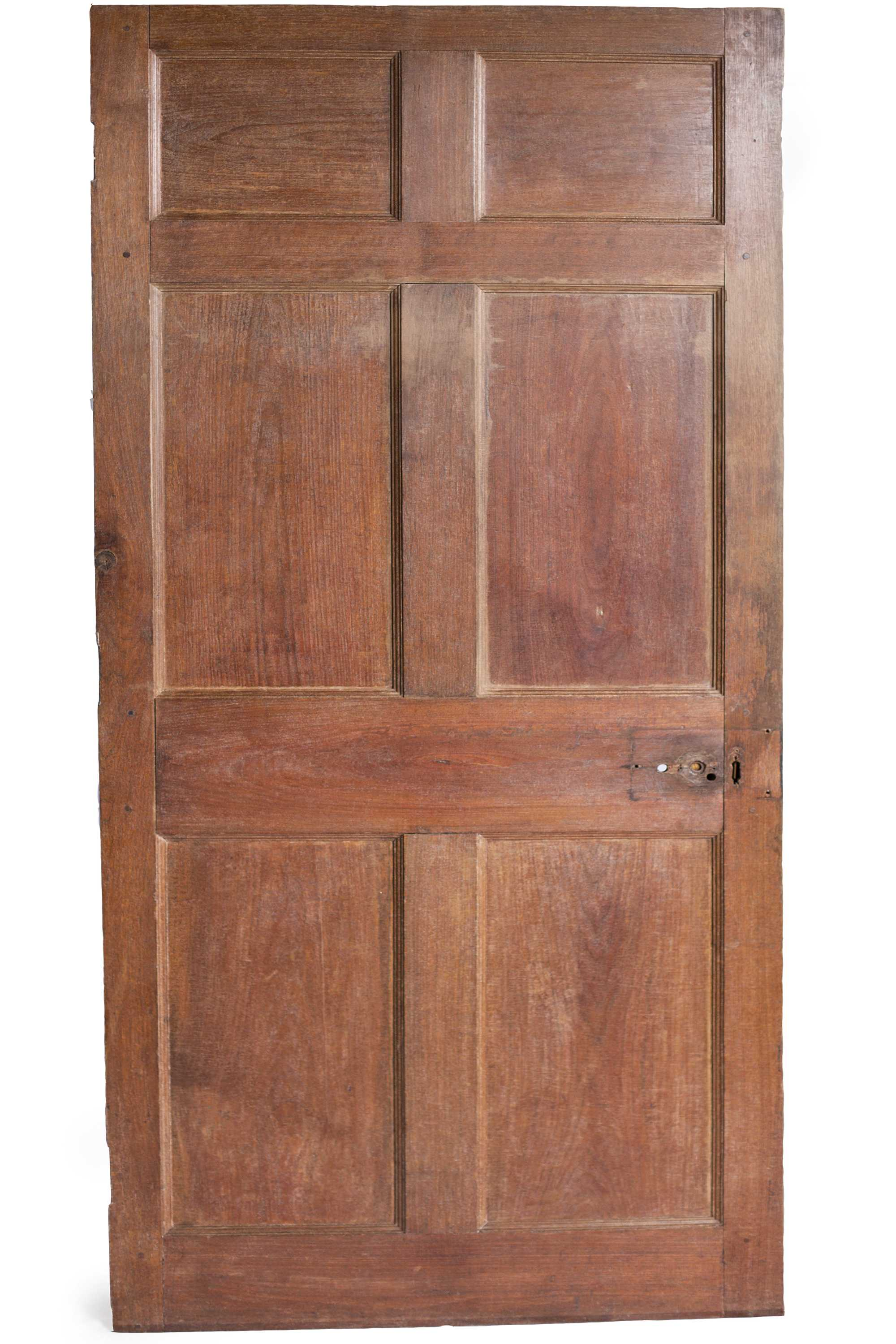 John Hemings (American, 1776−1833) Paneled Door for Jefferson's Poplar Forest, 1809−1819 Varnished walnut Courtesy of Thomas Jefferson's Poplar Forest