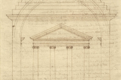 Thomas Jefferson (American, 1743−1826) Monticello: ionic portico and dome, recto, probably 1778 Coolidge Collection of Thomas Jefferson Manuscripts, Massachusetts Historical Society N91;K62