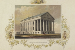 William Goodacre (English, 1803–1883) Capitol of Richmond, Virginia, 1830s Engraving and watercolor on paper Chrysler Museum of Art, gift of Mrs. Robert B. Tunstall 66.9.4