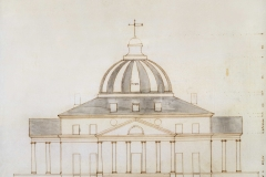 Thomas Jefferson (American, 1743–1826) Proposed sketch for the President's House, elevation, 1792 Pen and ink with gray wash Courtesy of the Maryland Historical Society 1976.88.6