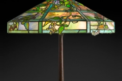 Tiffany Studios, October Night Table Lamp , about 1910, leaded glass, patinated bronze. Photograph by John Faier. © Driehaus Museum 2013