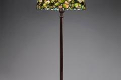 Tiffany Studios, Snowball Hydrangea Floor Lamp , about 1903–10, leaded glass, bronze. Photograph by John Faier. © Driehaus Museum 2013