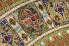 Detail of reredos with cross, after 1910. Tiffany Studios. Christ Episcopal Church, Corning, New York.