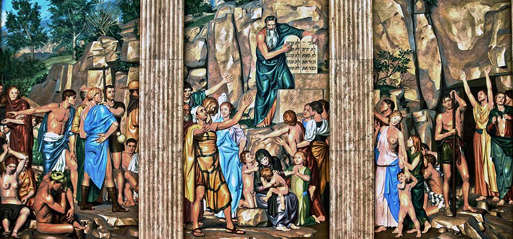 Mural, Clark Hall, U. Va.