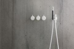 VOLA basin-mixer, Matte White