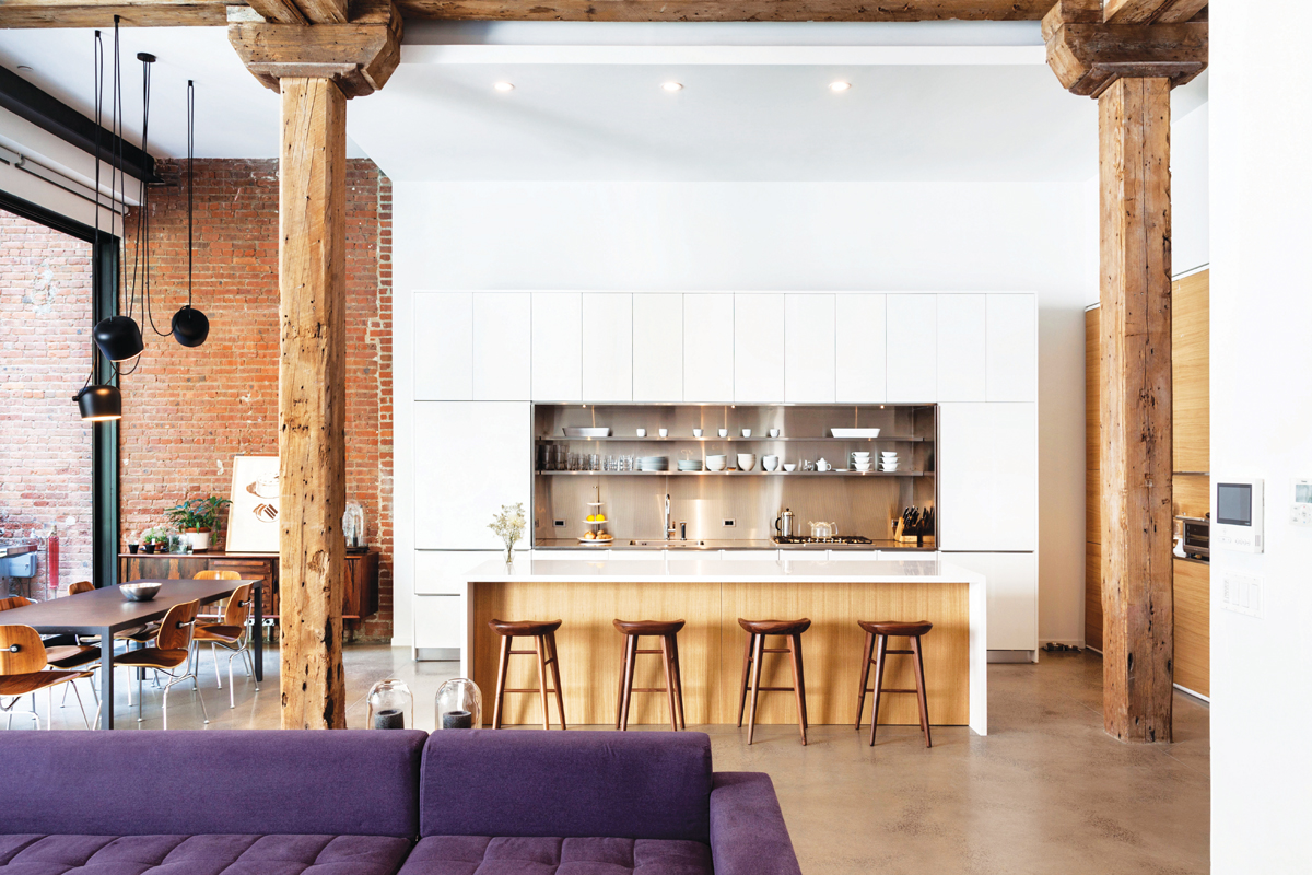 Alloy architects converted a former New York Brillo warehouse into eight substantial lofts. with 4m-high (13ft) ceilings. Photo by Richard Barnes