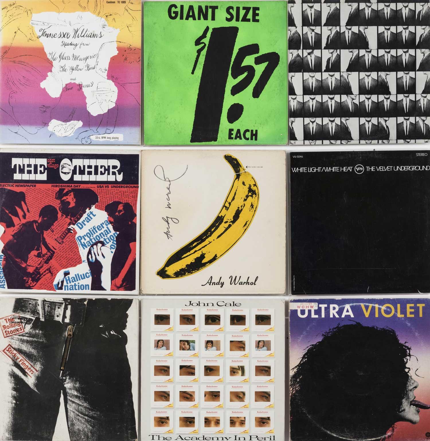 Warhol Album Covers