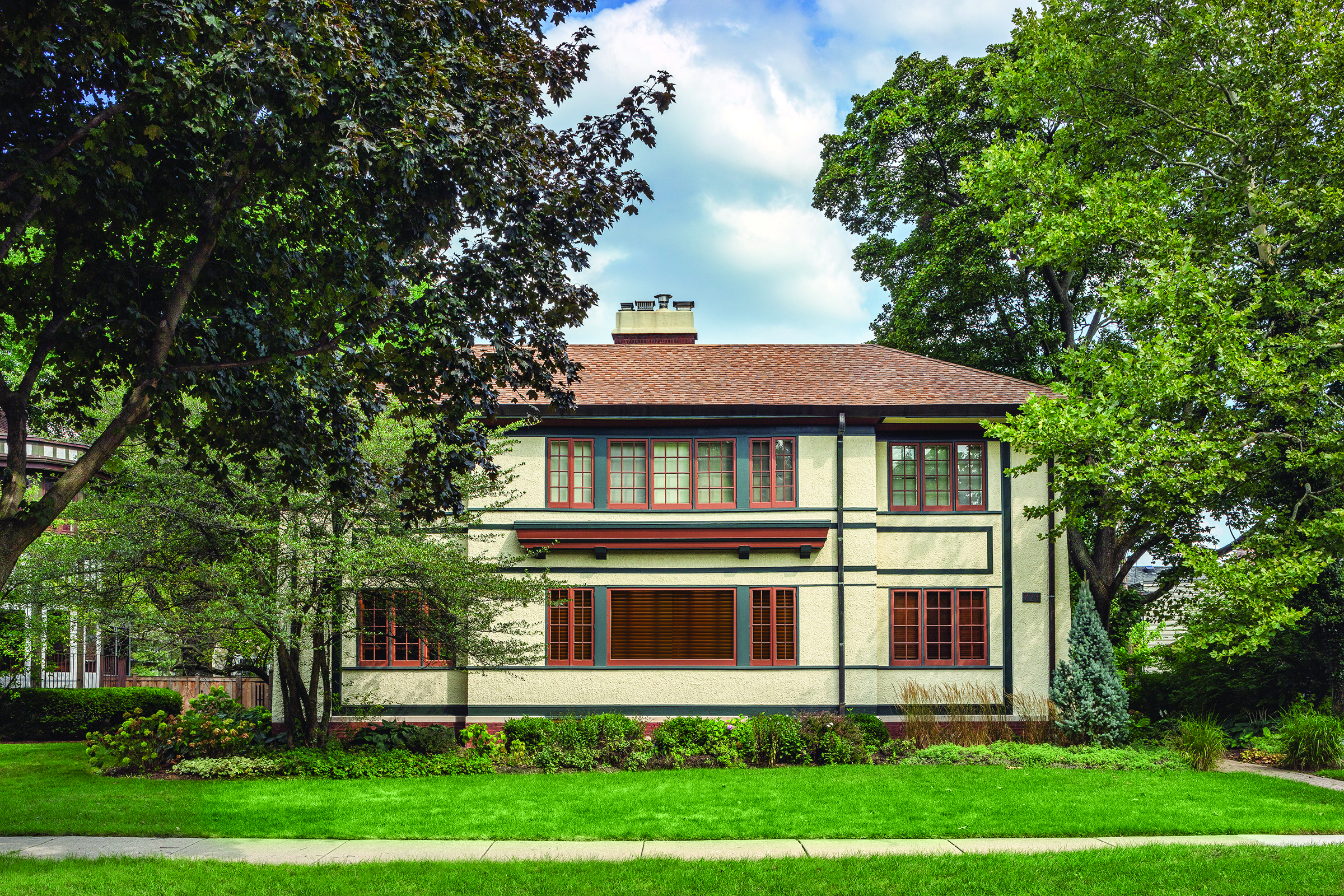 Ernest P. Waud House ( T allmadge & Watson, 1914) Credit: Courtesy of Frank Lloyd Wright Trust. Photographer: James Caulfield