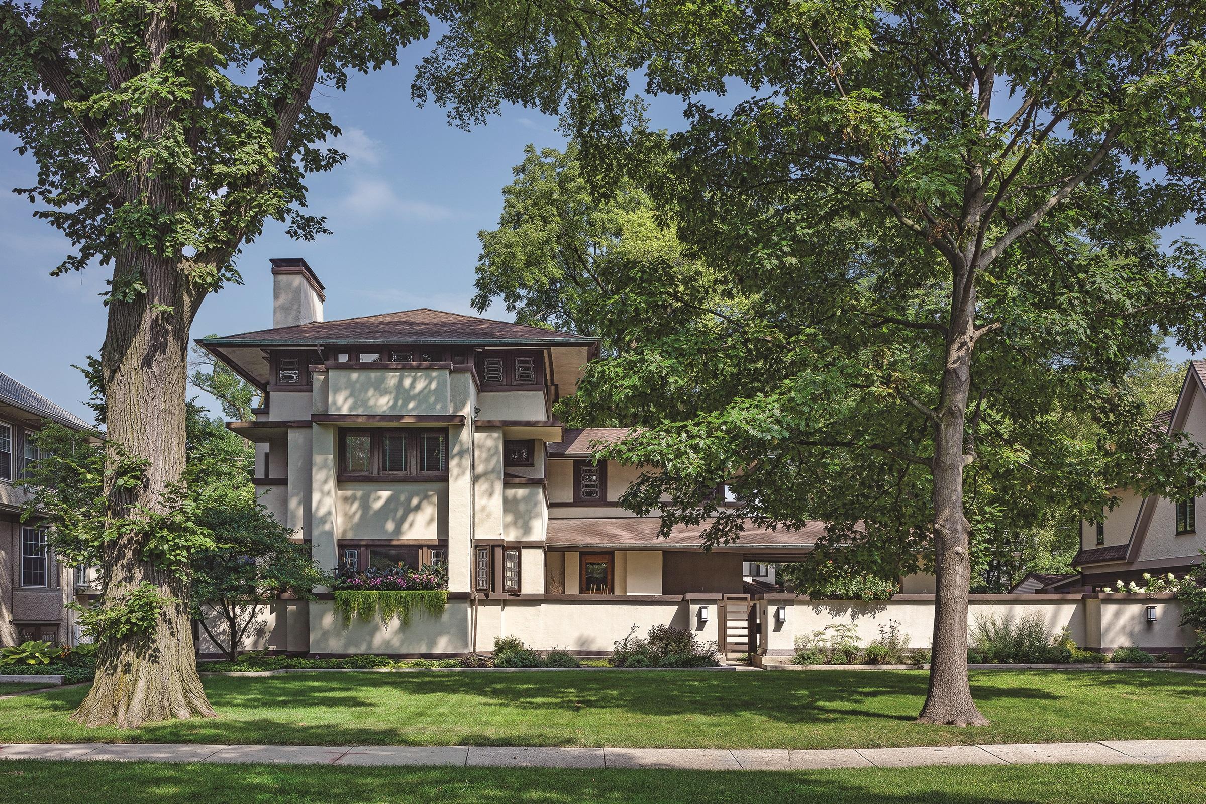 William E. Martin House (Frank Lloyd Wright, 1903) Credit: Courtesy of Frank Lloyd Wright Trust. Photographer: James Caulfield