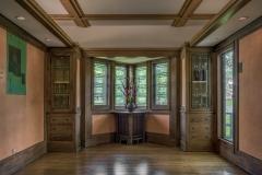 Dining room prow , William E. Martin House (Frank Lloyd Wright, 1903) , Oak Park, IL Credit: Courtesy of Frank Lloyd Wright Trust. Photographer: James Caulfield