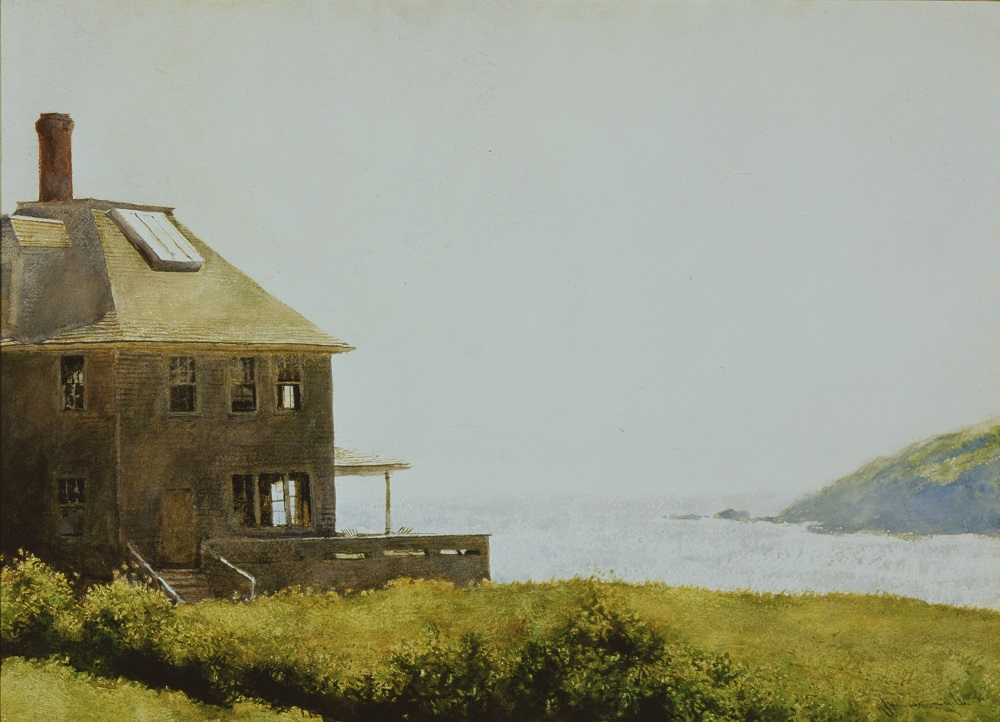 Jamie Wyeth (American, b. 1946) Entrance, Monhegan Harbor, 1973 Watercolor and gouache on board Bank of America Collection ©2020 Jamie Wyeth/Artists Rights Society (ARS), New York