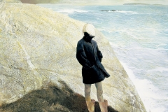 Andrew Wyeth (American, 1917-2009) On the Edge, 2001 Tempera on panel Bank of America Collection ©2020 Andrew Wyeth/Artists Rights Society (ARS), New York
