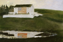 Jamie Wyeth (American, b. 1946) Patriot's Barn, 2001 Mixed media on toned board Bank of America Collection ©2020 Jamie Wyeth/Artists Rights Society (ARS), New York