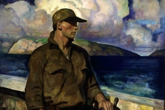 N.C. Wyeth (American, 1882-1945) A Young Maine Fisherman, 1933 Oil on canvas Bank of America Collection