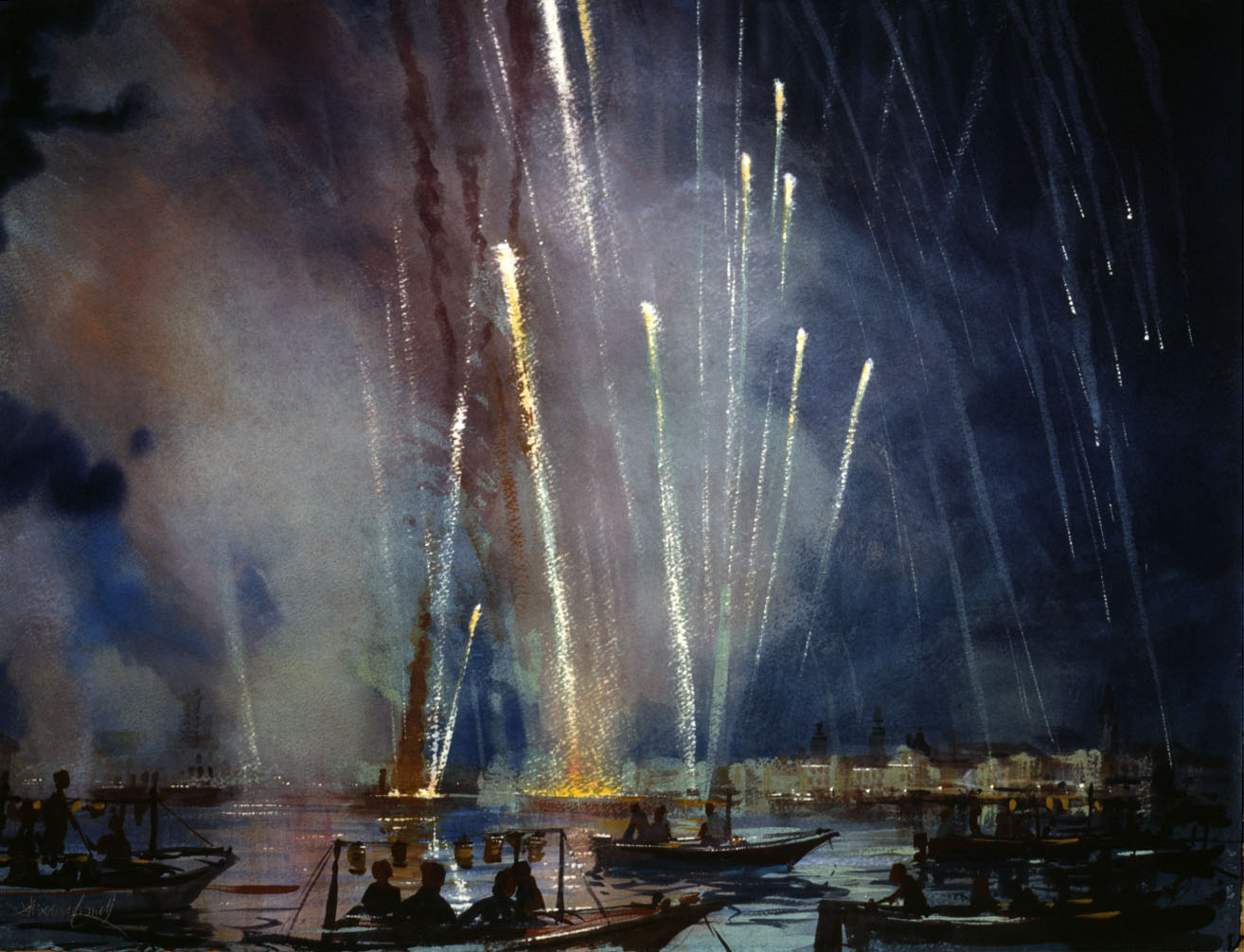 ac-13996d-194-venice-redentorefireworks-soundstudy6-2011-watercoloronpaper-22x30in