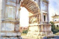 ac-13996d-166-rome-archoftitus-2012-watercoloronpaper-18x24in