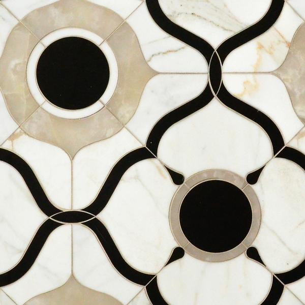 Wesley petite stone hand cut mosaic