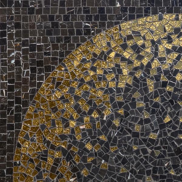Soleil stone water jet mosaic