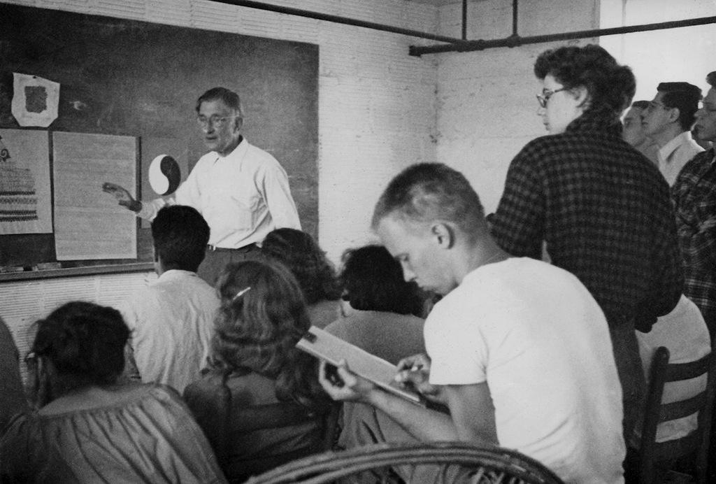 7) Josef Albers Teaching at BMC by Hazel Larsen Archer-r